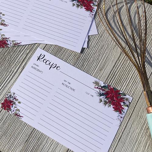 Holiday Recipe Card - Loft Designs