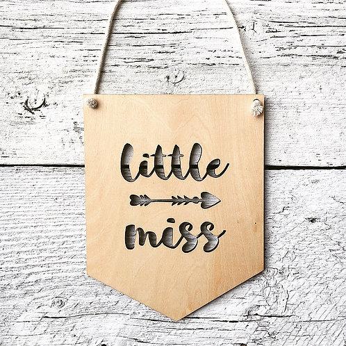 Little Miss Wall Flag - Etch'd Designs