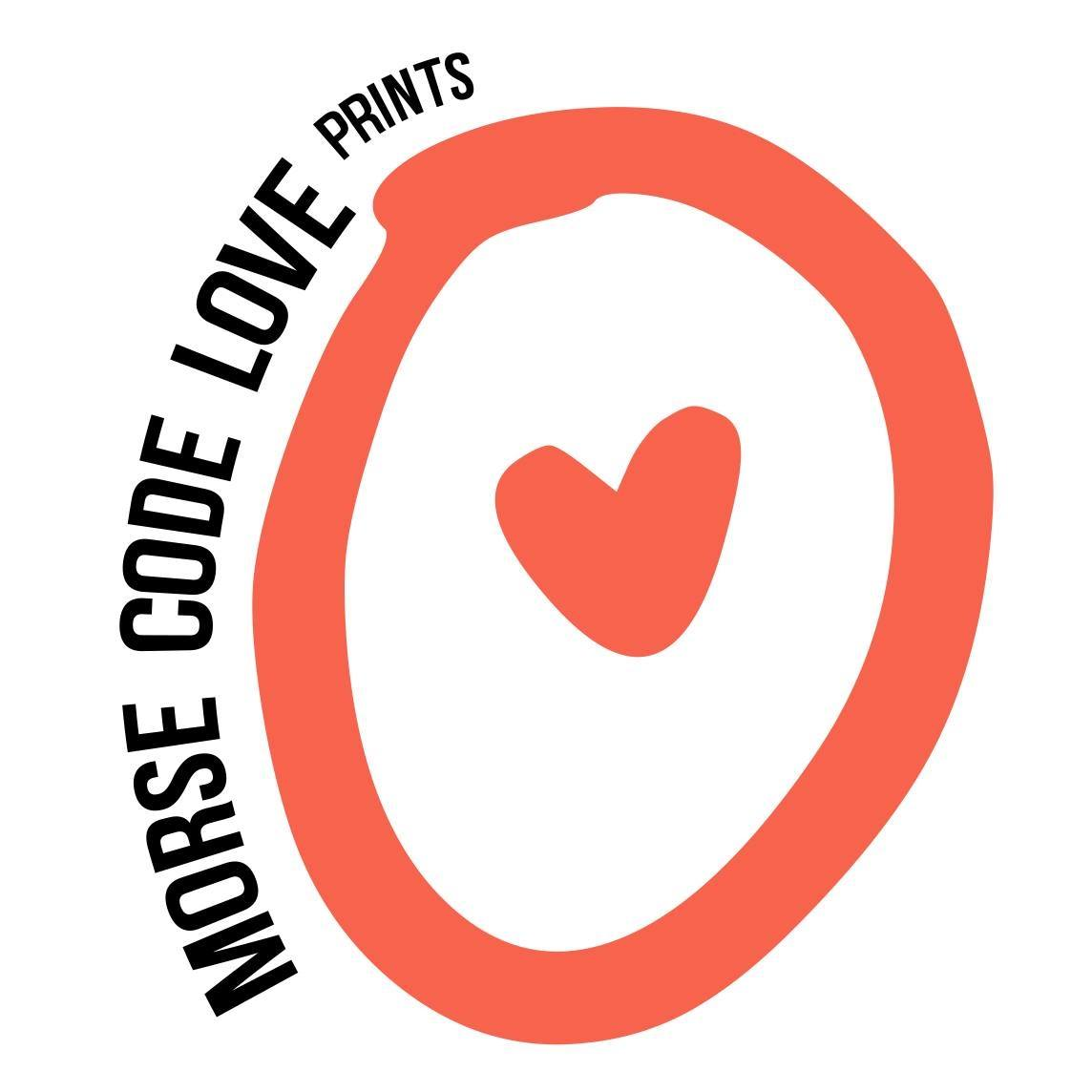 Morse Code Love Prints