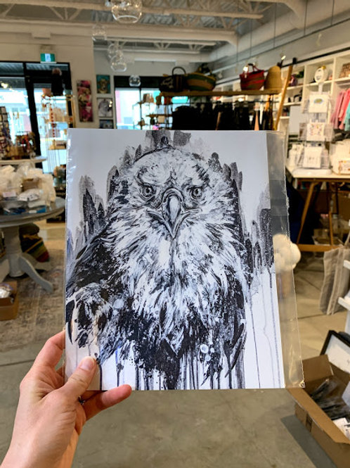 B+W Eagle Print - Kay Rose Creative