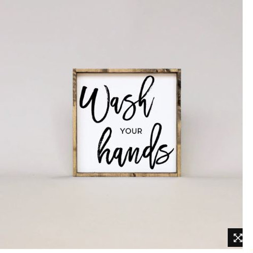 Wash Your Hands 13x13 - William Rae Designs