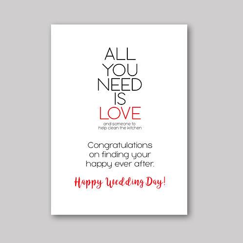 All Need Love Card - What She Said Creatives