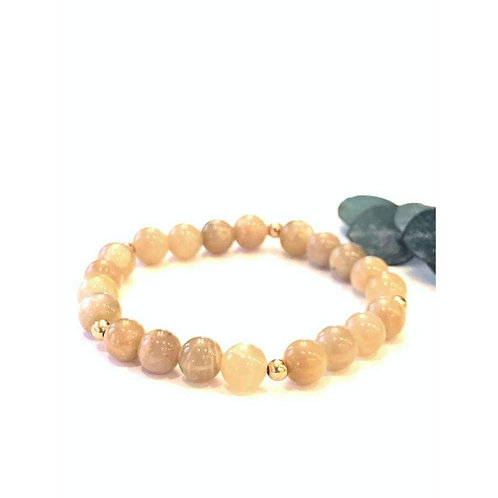 Peach Moonstone Bracelet - Mala & Me