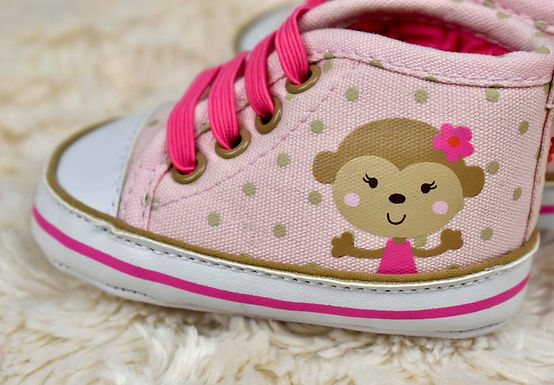 Girls Monkey Shoes, Newborn