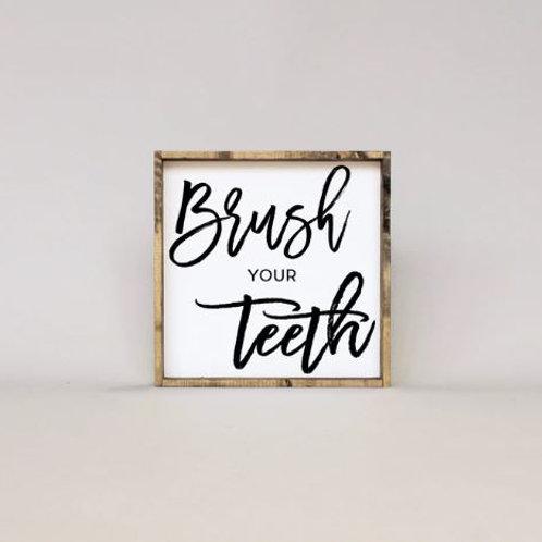 Brush Your Teeth 13x13 - William Rae Designs