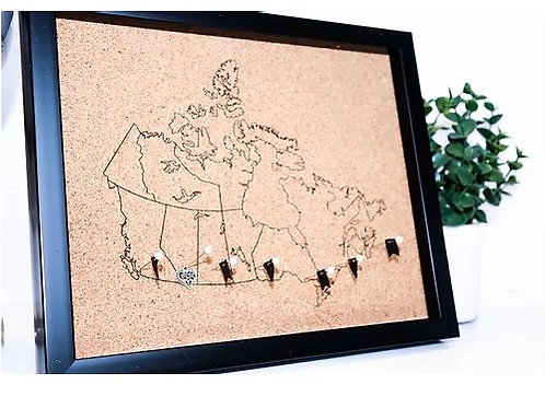Canada Pin Map Rastered Small - Wanderlust Creatures