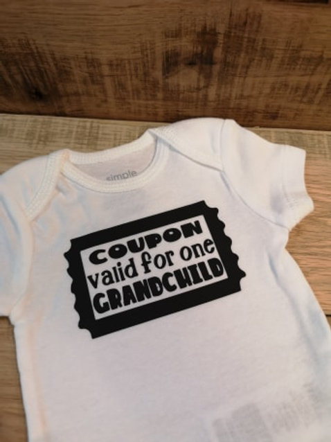Grandchild Coupon Onesie - All Decked Out Events