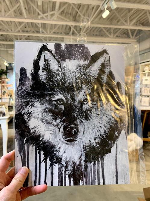 B+W Wolf Print - Kay Rose Creative