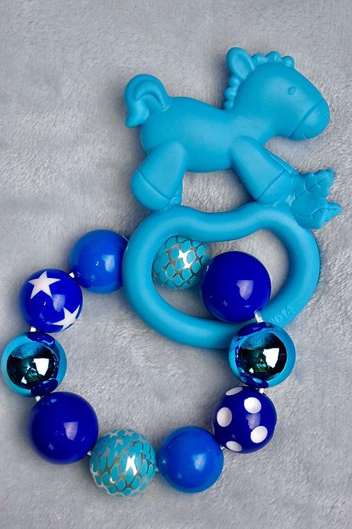 Blue Rocking Horse