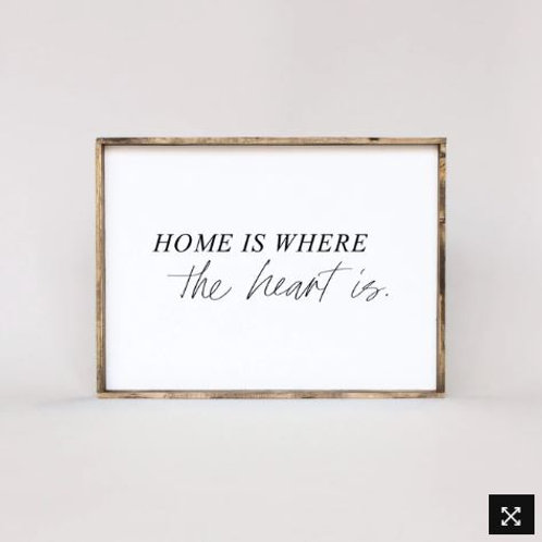 Home Is Where The Heart Is 12x36 - William Rae Designs