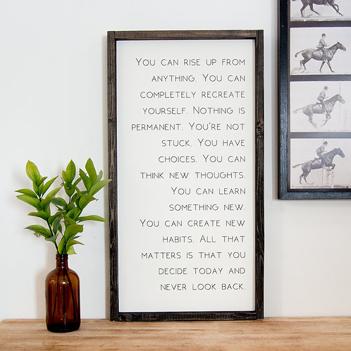 You Can Rise Up 12x24 Wooden Sign - Fox + Sparr