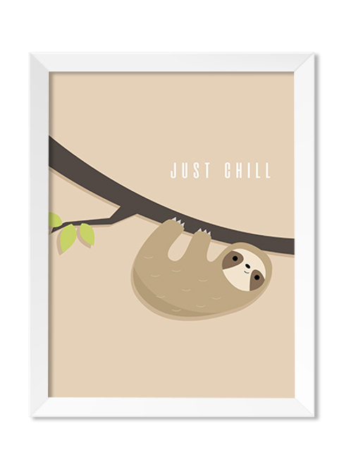 Just Chill 8x10 Print - IM Paper Co