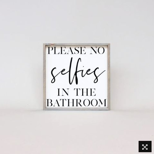 Please No Selfies 13x13 - William Rae Designs