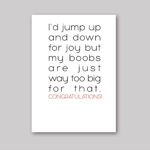 Jump Up And Down Card - What She Said Creatives