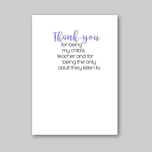 Thank Teacher Card - What She Said Creatives