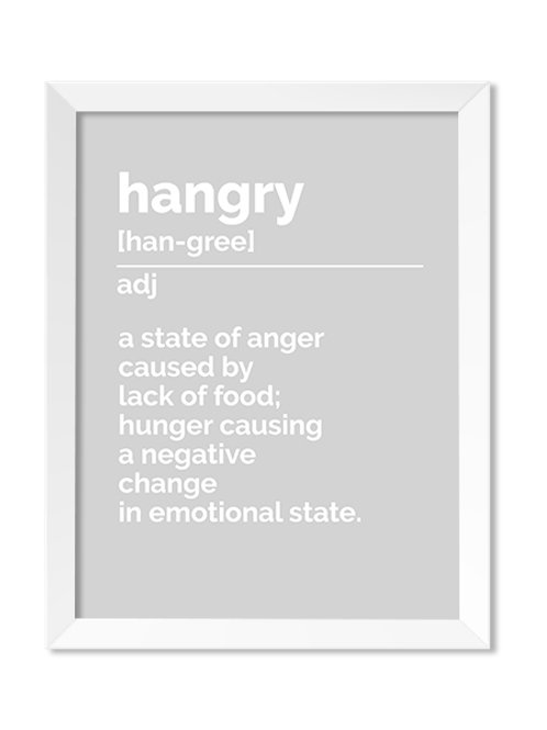 Hangry Definition 8x10 Print - IM Paper Co