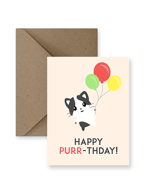Happy Purr-Thday Card  - IM Paper