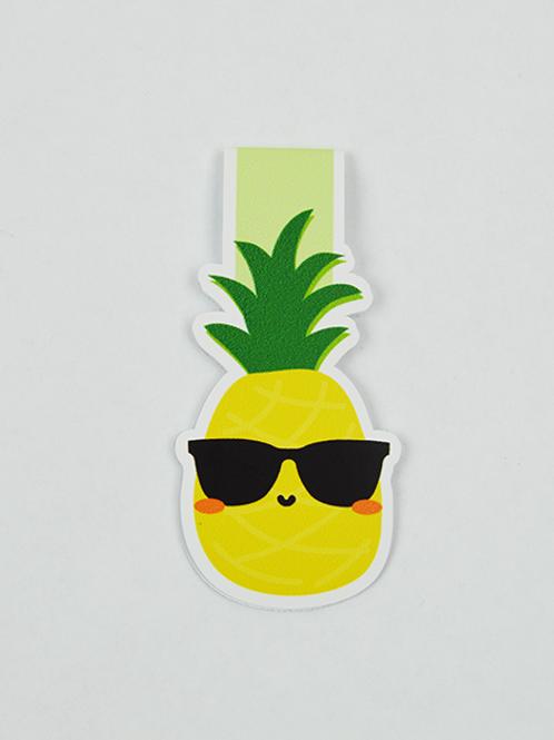 Pineapple  - Magnetic Bookmark - IM Paper