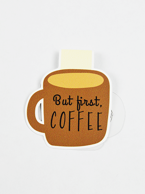 But First Coffee - Magnetic Bookmark - IM Paper