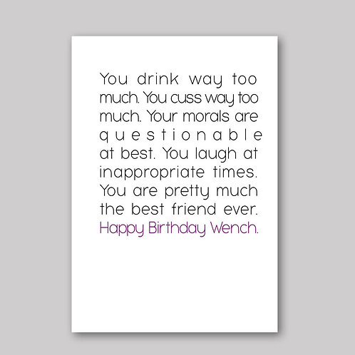 Birthday Wench Card - What She Said Creatives