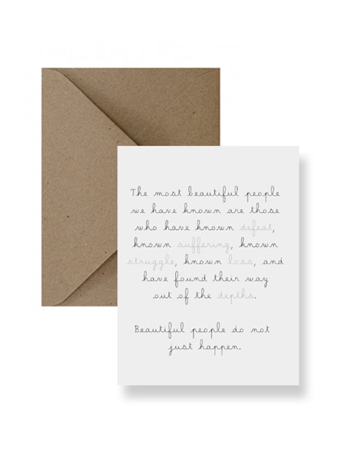 The Most Beautiful People Card  - IM Paper