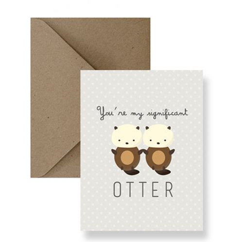 You're My Significant Otter Card - IM Paper