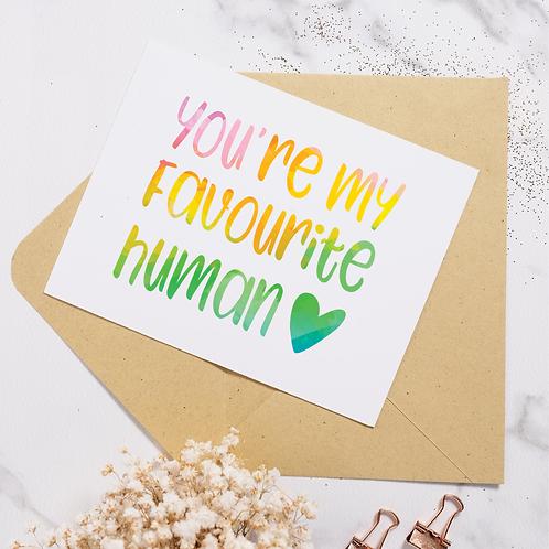 Favourite Human Rainbow - Hoot Events