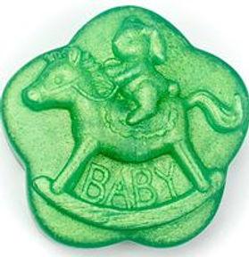 Green Sparkle Bunny Horse Ride