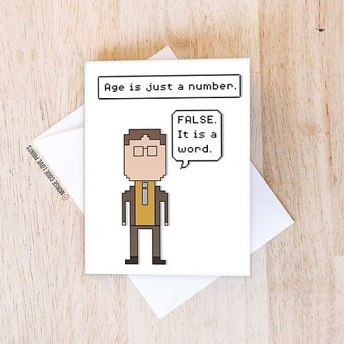 Dwight Age Card - Morse Code Love Prints