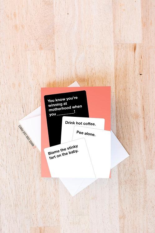 Parenthood Card - Morse Code Love Prints