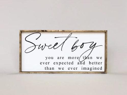Sweet Boy 12x25 - William Rae Designs