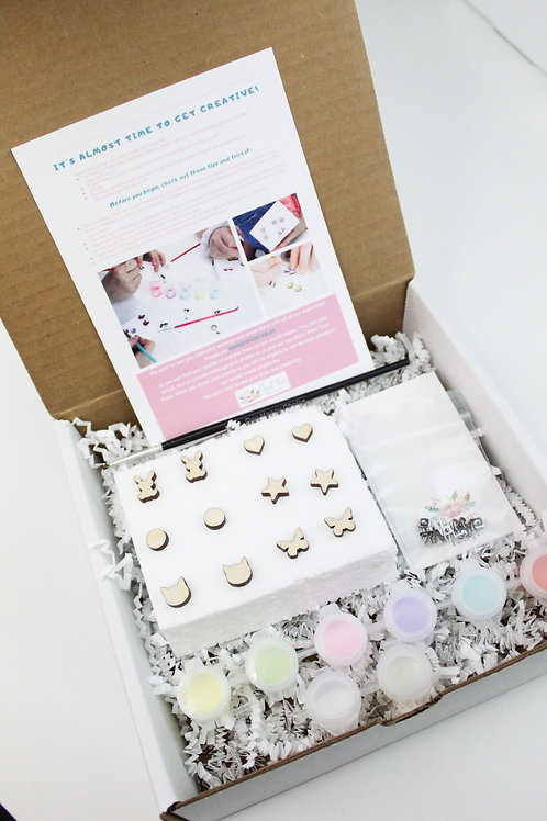 Paintable Earring Kit - Sweet Three Designs