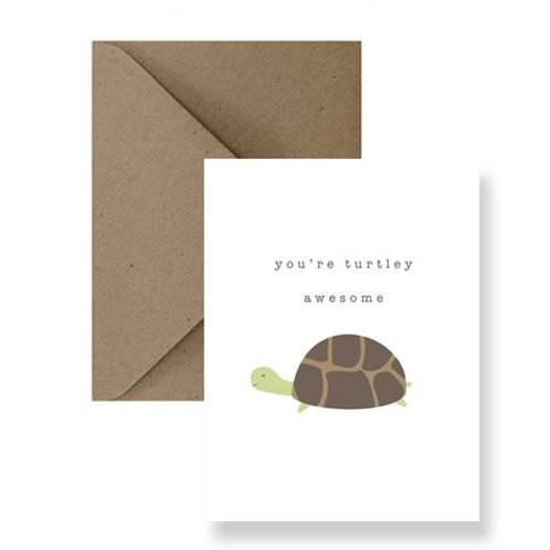 You're Turtley Awesome Card - IM Paper