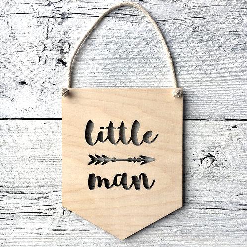 Little Man  Wall Flag - Etch'd Designs