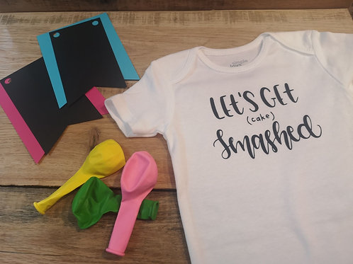 Let's Get Cake Smashed Onesie - All Decked Out Events