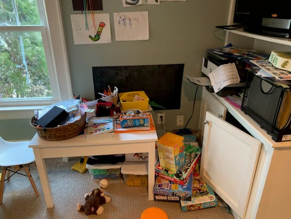 Kids Craft Area Before
