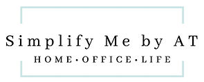 logo for professional organizer Simplify Me by AT specializing in home, office and life simplifying