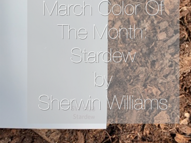 March Color Of The Month: Stardew by Sherwin Williams
