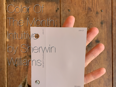 April Color Of The Month: Intuitive By Sherwin Williams