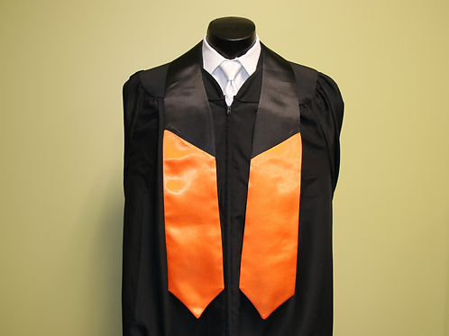 Plain 2-Color Graduation Stole