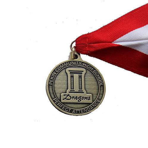 Pekin Community High School Perfect Attendance Medal