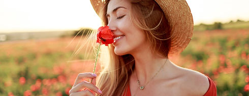 romantic-blonde-woman-with-flower-hand-w