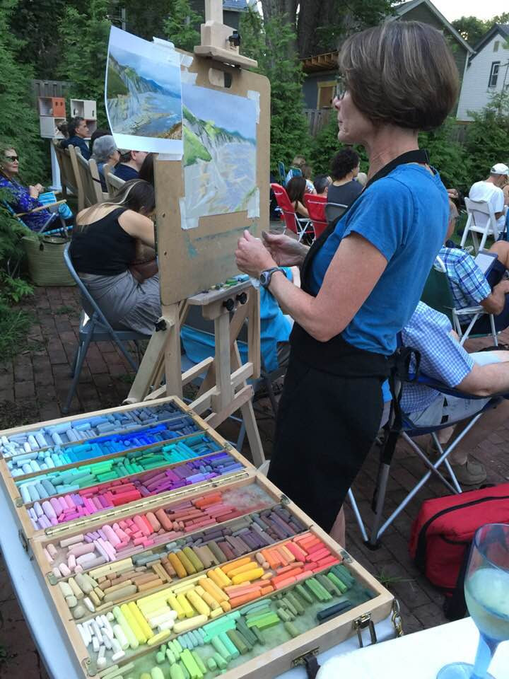 Painting at Jazz in the Garden at Edward Hopper House, August 2019
