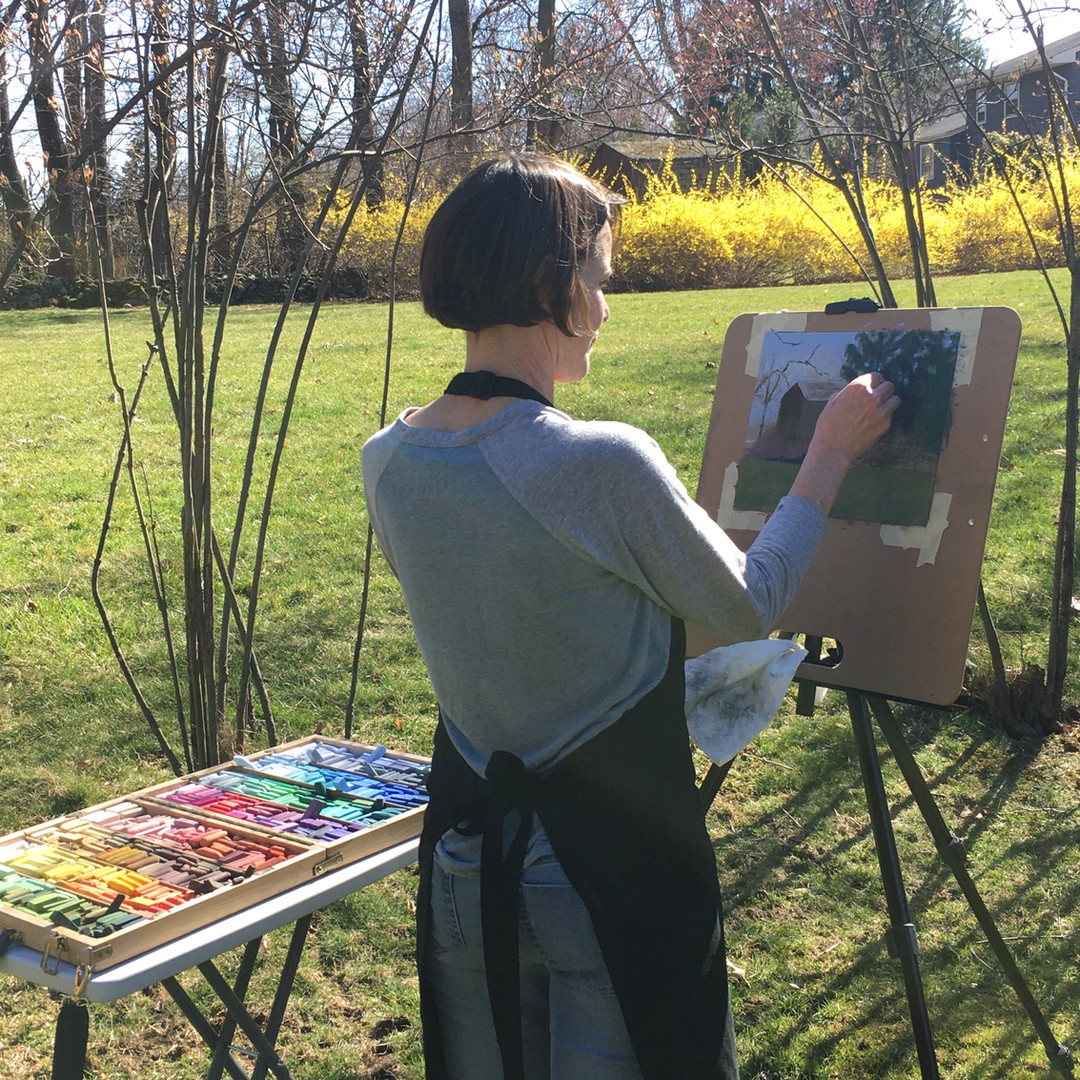 Plein air painting, March 2020