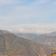 Snow peaks in winter.