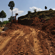 Road levelling.