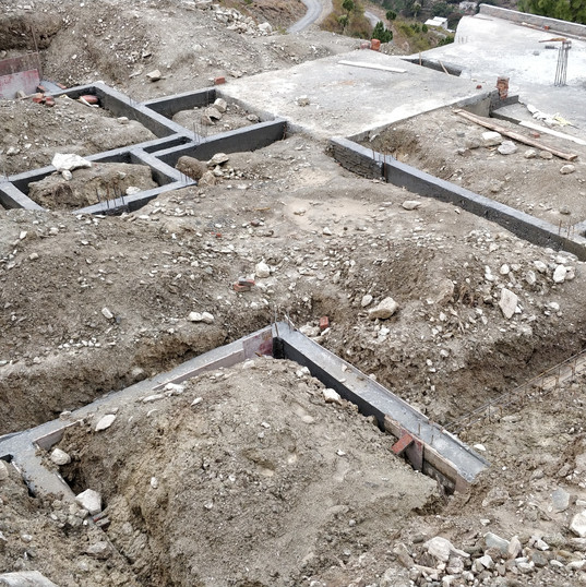 Cottage foundations.