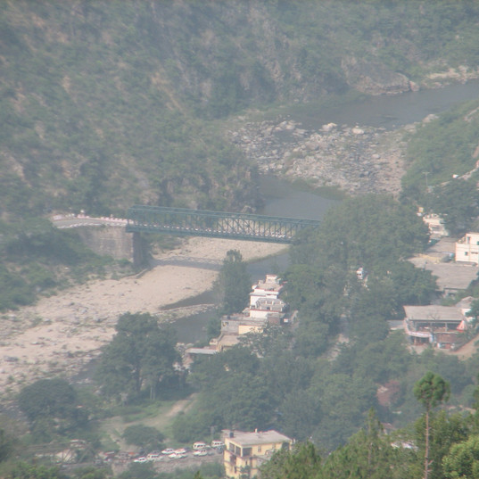 Ranikhet bridge across river Kosi.