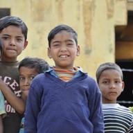 Village kids.