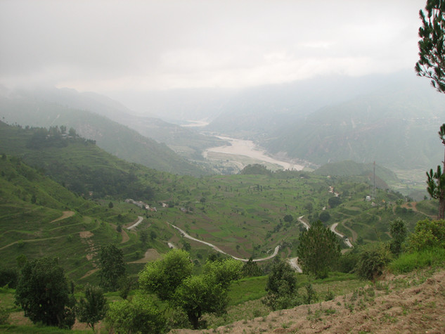 Kosi river valley from Biyasi